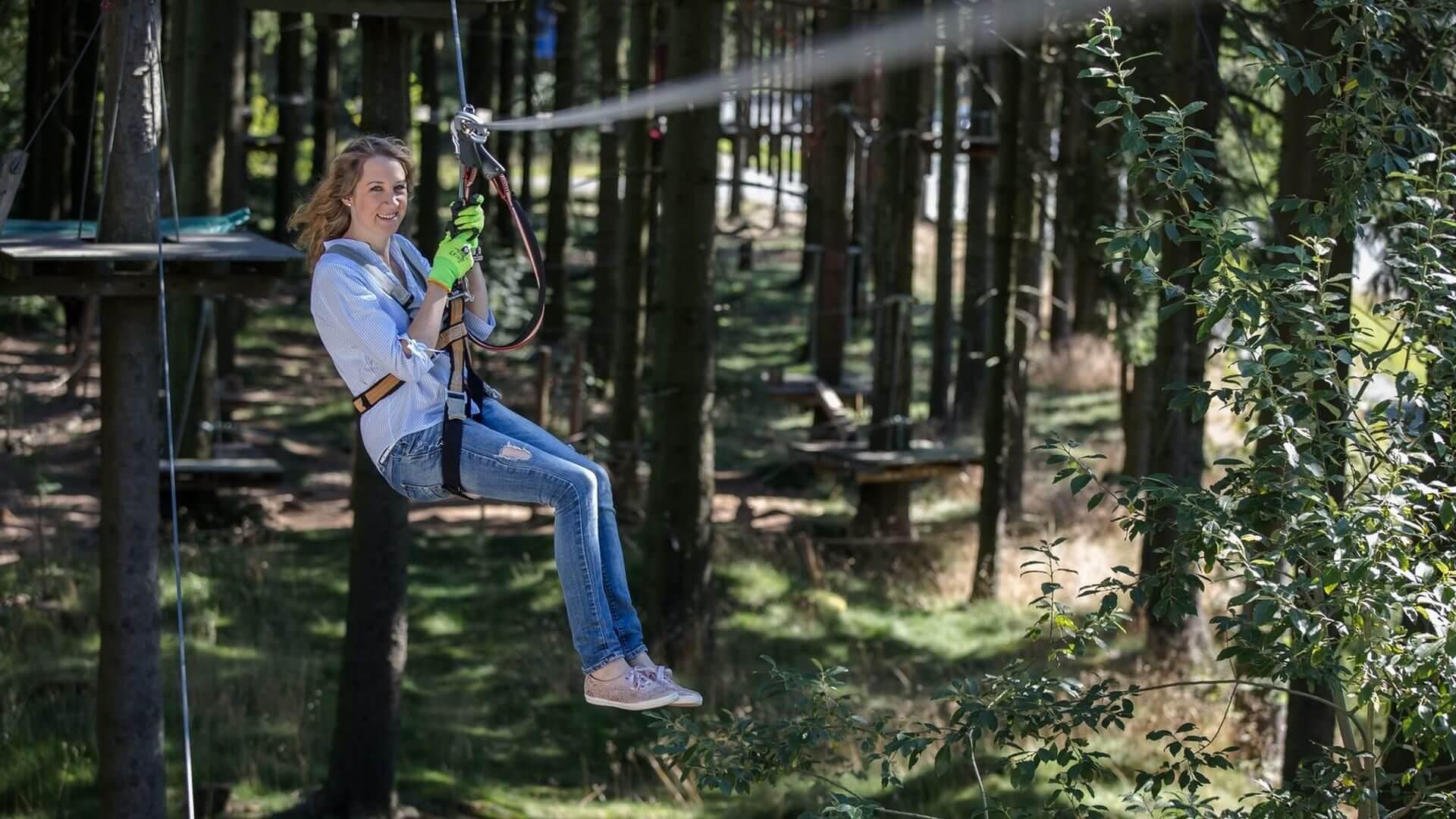 Verkürzte Öffnungszeiten im Kletterwald zum Saisonende