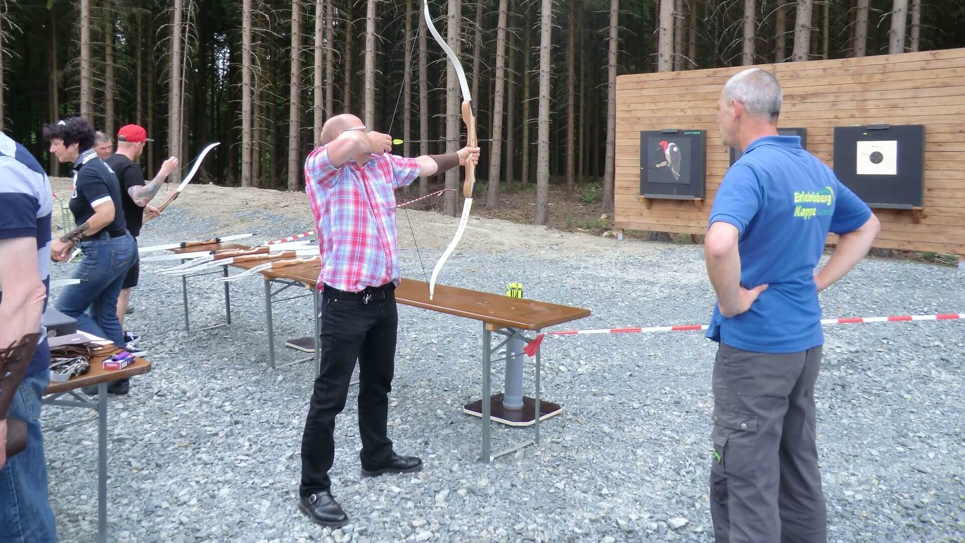 Gruppenprogramm Bogenschießen am Erlebnisberg Kappe Winterberg