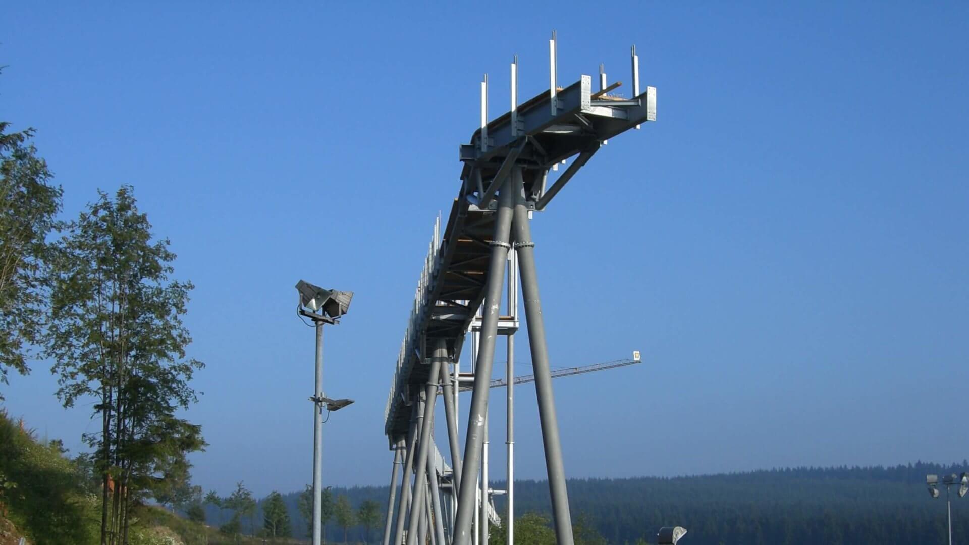 Panorama Erlebnis Brücke wird am Erlebnisberg Kappe gebaut